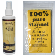 guitar polishing cloth and polish